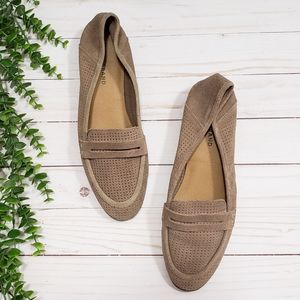 Lucky Brand Caylon Perforated Suede Loafers